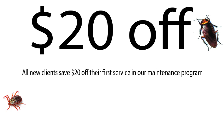 $20 off their first service in our maintenance program